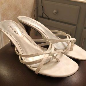 White Low/Short Heel Sandals.